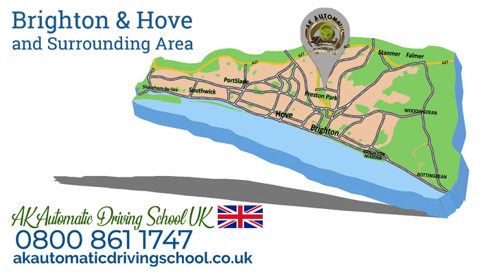 driving lessons brighton price and areas